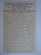 Doodsprentje Mevrouw Weduwe Désiré Alois Poppe Geboren Josepha Ogiers Tielrode 1863 Moerzeke 1947 Lid Derde Orde - Images Religieuses