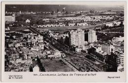 0 - B17456CPA - MAROC - CASABLANCA - Place De France Et Port - Vue Aerienne De M. Flandrin - Très Bon état - AFRIQUE - Casablanca