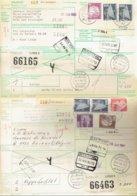 2 International Paketkarte Bahn-RFA Gescher Und Bad Kissingen Nach Liège Und Rocourt Belgien-siehe Beschreibung - Covers & Documents