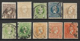Greece - Lot Of Different Stamps - 1886-1901 Hermes, Klein