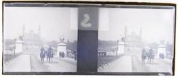Paris, Exposition 1900 (?) : Vue Sur Le Trocadéro. Plaque De Verre Stéréoscopique. Négatif - Diapositivas De Vidrio