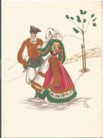 Z5436 Costumi Di Sardegna - Sennori (Sassari) - Illustrazioni Illustration Lola Loy - Folklore / Non Viaggiata - Altre Città