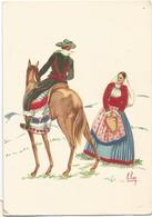 Z5438/39 Costumi Di Sardegna - Teulada (Cagliari) - Illustrazioni Illustration Lola Loy - Folklore / Non Viaggiata - Altre Città