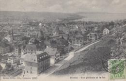 Suisse - Bienne Biel - Vue Générale Et Lac - Postmarked 1908 - BE Berne