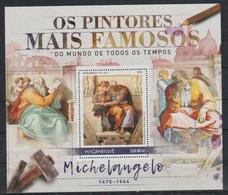 A314. Mozambique - MNH - 2016 - Art - Paintings - Michelangelo - Bl. - Altri