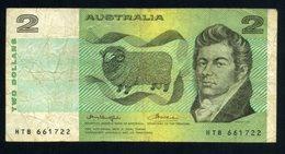 Australia 2 Dolares 1966-72 Billete Banknote Pliegues Y Dobleces - Billetes