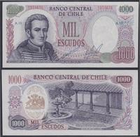 Chile 1000 Escudos 1973 Billete Banknote Sin Circular - Billetes