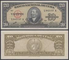 Cuba 20 1960  Pesos Billete Banknote Sin Circular - Billetes