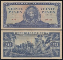 Cuba 20 1964 Pesos Billete Banknote Circulado - Bankbiljetten