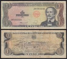República Dominicana 1 Peso 1988 Billete Banknote Circulado - Billetes