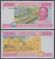 África Central  2000 Francs 2002 Billete Banknote Sin Circular - Andere - Afrika