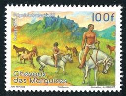 POLYNESIE 2012 - Yv. 1008 **   Faciale= 0,84 EUR - Faune. Chevaux Des Marquises  ..Réf.POL24934 - Polynésie Française