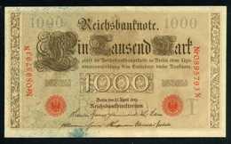 Alemania 1000 Marcos 1910 Billete Banknote Circulado Foto Estándar - [ 2] 1871-1918 : Imperio Alemán