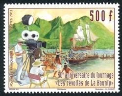 """POLYNESIE 2011 - Yv. 972 **   Faciale= 4,20 EUR - Cinéma. Film 'Les Révoltés Du Bounty""""  ..Réf.POL24913 - Nuovi"""