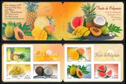 POLYNESIE 2013 - Yv. 1023 à 1028 = Carnet C1023 **  - Fruits (6 Val.) Autoadhésif  ..Réf.POL24949 - Französisch-Polynesien