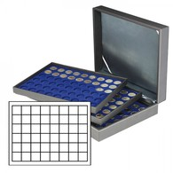 Coin Case NERA XL With 3 Trays And Light Red Coin Inserts - Placas De Cava