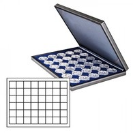 NERA M Coin Case With A Dark Blue Insert With 48 Square Compartments - Placas De Cava