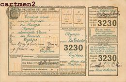 EXPEDITION COLIS POSTAL HUMOUR TIMBRE POSTE ENVOI CACHET 1900 - Timbres (représentations)