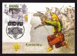 UKRAINE 2019 Maxi Card Block Cimmerians CULTURE Palaeology Archaeology Ancient Warrior Archer Weapon Uniform #515 - Ucraina
