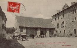 66 FONT ROMEU  FONTAINE ET COUR DE L'HERMITAGE - Autres Communes