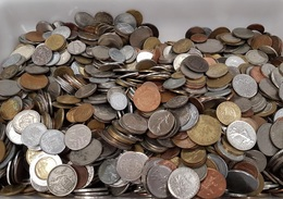 Lote 100 Kg Monedas Mundiales Variadas - Sin Clasificación