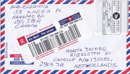 Nederland - Reigstered Letter Canada - Nederland - Postaal Etiket TPGPOST - Geen Gehoor Sticker - Picassopasage 2907 - Postal History