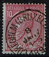 46  Obl  Cureghem (BXL)  + 4 - 1884-1891 Léopold II