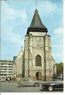 MARCQ EN BAROEUL - L'église - Voiture : Citroen 2CV - Peugeot 404 - Marcq En Baroeul