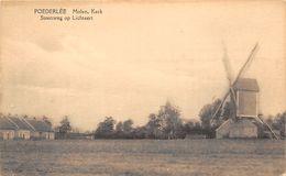 BB121 Poederlee Molen Steenweg Op Lichtaerd Ca 1920 - Lille