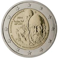 Grecia 2014 2 € Euros Conmemorativos Av Muerte De  El Greco - Monete