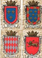 "FRANCE - Lot De 4 Cartes "" ARMOIRIES "" - Cartoline"