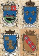 """FRANCE - Lot De 4 Cartes """" ARMOIRIES """" - Cartes Postales"""