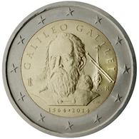 Italia  2014  2 € Euros  Conmemorativos 450º  Av  Galileo Galilei - Monete