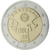 Portugal 2014 2 € Euros Conmemorativos  40º Av Revolución Del 25 De Abril - Monete