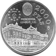 España Juan Carlos 2000 Pesetas 1995 De Plata Presidencia - Monedas