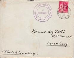 1..25/ Paix L Avec CONTENU (.) Sc Postes Aux Armées / TOURS /24.12.39( H.O.E.2 N°3Secteur Postal 39)-> LUXEMBOURG + - Marcophilie (Lettres)
