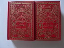 Jules Verne - 20000 Lieues Sous Les Mers Suivi De Une Ville Flottante. 2 Volumes   / éd. Librairie Hachette - 1968 - Boeken, Tijdschriften, Stripverhalen