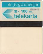 YUGOSLAVIA(Autelca) - Telecom Logo 100 Units, CN : 8 Digits, Tirage %100000, Used - Jugoslawien