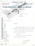 10 - Aube - ST-JULIEN-LES-VILLAS - Facture COLAS & BOULET - Scierie, Commerce De Bois - 1941 - REF 124A - 1900 – 1949