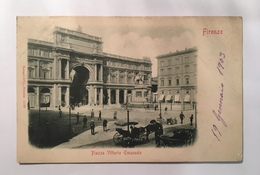 V 11047 Firenze - Piazza Vittorio Emanuele Nel 1903 - Firenze