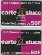 Carte Prépayée - Lot De 2 Cartes Différentes - CARTE@STUCE -  Visuels Et Versos  Différents - Andere Voorafbetaalde Kaarten