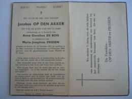 Doodsprentje Jacobus Op Den Akker Rotem 1871 Smeermaas 1950 Echtg Anna Dorethea De Bois Maria Josephina Frissen - Devotion Images