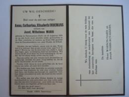 Doodsprentje Anna Catharina Elisabeth Indemans Stevensweert (Holl.) 1875 Lanaken 1950 Wed Jozef Wilhelmus Maris - Andachtsbilder