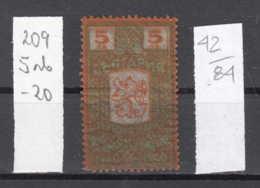 84K42 / 1940 -  5 Leva  ( ** ) Rampant LION Crown Apple Fruit Revenue Fiscaux Fiscal Bulgaria Bulgarie - Bulgaria
