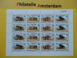 Cambodia 1997, WWF FAUNA ELEPHANTS: Mi 1680-83, ** - KB - Nuevos