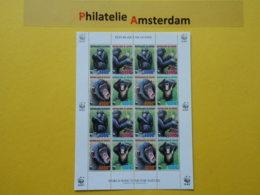 Guinea 2006, WWF FAUNA CHIMPANSEE: Mi 4222-25, ** - KB - Nuevos