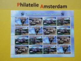 Moçambique 2002, WWF FAUNA AFRICAN BUSH ELEPHANT: Mi 2393-96, **  - KB - W.W.F.