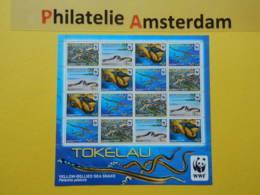 Tokelau 2011, WWF FAUNA YELLOW-BELLIED SEA SNAKE: Mi 408-11, ** -KB - Nuevos