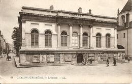 71. CPA. Saône Et Loire. Chalon-sur-Saône. Le Musée (animée, Publicité, Affichage) - Chalon Sur Saone