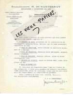 21 - Côte-d'or - VIROFLAY - Facture DUMARTHERAY - Exploitation Et Exportation Des Bois - 1930 - REF 124A - 1900 – 1949